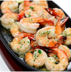 Garlic King Prawns